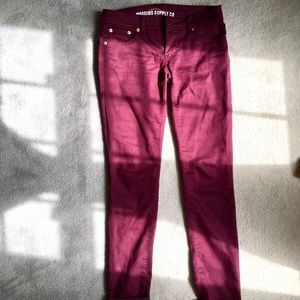 Maroon Mossimo Supply Co Skinny Jeans size 3